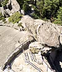 Looking down trail from Moro Rock